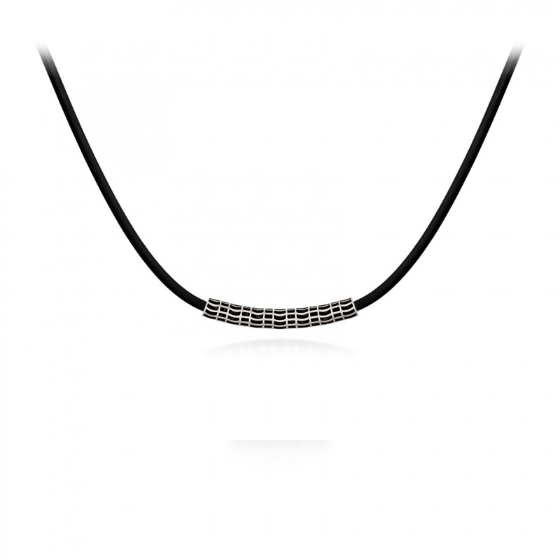 Colar Grid Tubular Negro